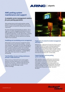 ARINC Airports AMS parking system maintenance and support data sheet A4 EMEA